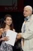 Дмитрий Сухарев награждает Ульяну Фукацу